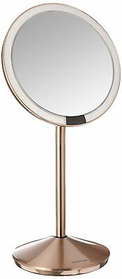 5 inch Sensor Mirror Lighted Makeup 10x Magnification Stainless Steal Rose-Gold
