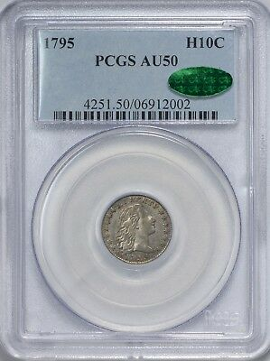 1795 Flowing Hair Half Dime PCGS AU50 - CAC Approved!