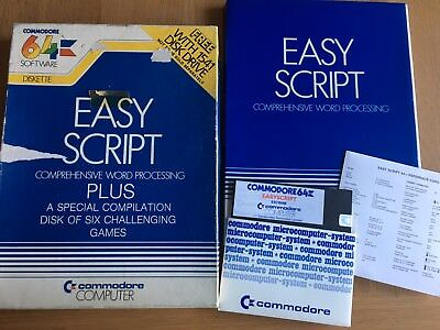 EASY SCRIPT COMMODORE 64 (C64) Software Big Box 5 1/4 5 25