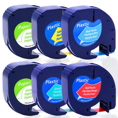 Label Tape Compatible for DYMO Letra Tag Tapes LT91330 91331 91332 91334 91335