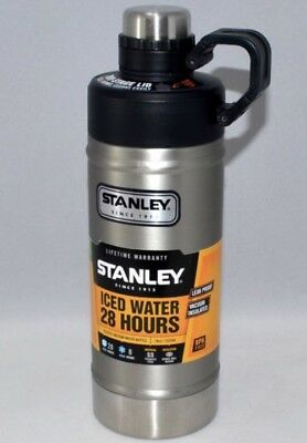 Stanley 18 Oz. Classic Vacuum Iced Water Bottle Stainless Steel New