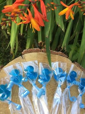 15 X Baby Shower Soap Favours Little Ducks In Transparent Blue