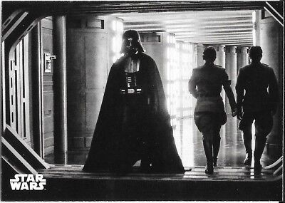 2018 Topps Star Wars Black & White A New Hope #76 Darth Vader Makes his Rounds