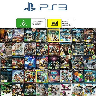 💚💛 Sony PlayStation 3 PS3 ●● GAMES RATED G or PG ●● Your Choice 15/04/18 💚💛