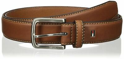 Tommy Hilfiger Men's Leather Stitched Edge Casual Belt