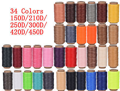Cord Waxed Thread Wax Bracelet Jewelry Linen Spool Leather Craft Sewing 260m TO