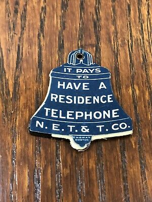Ehrman Boston N.E Telephone Co. Celluloid Bell Shaped Stamp Holder