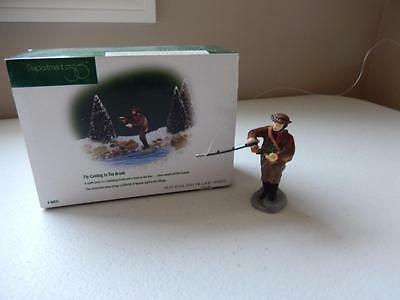 Department 56  (MINT) Fly-Casting In The Brook #56633  FREE SHIPPING