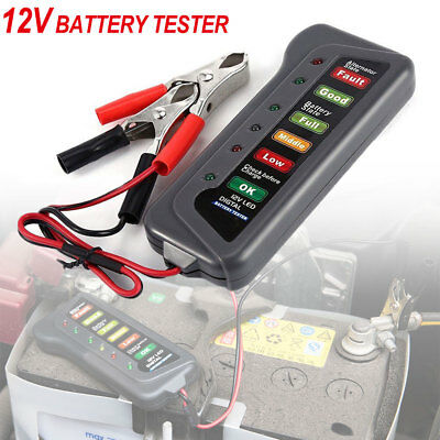 12V Battery Load Tester Digital Analyze Auto Car Motor Vehicle Alternator Tool