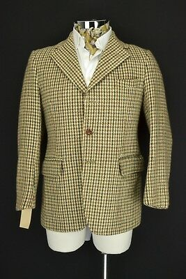 "38"" Extra Short Dunn & Co Harris Tweed Hacking Jacket Blazer 3 Button"