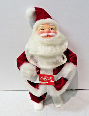"Older Coca-Cola Santa Claus plastic doll 10"" Mail-a-way- Smoke Smell"