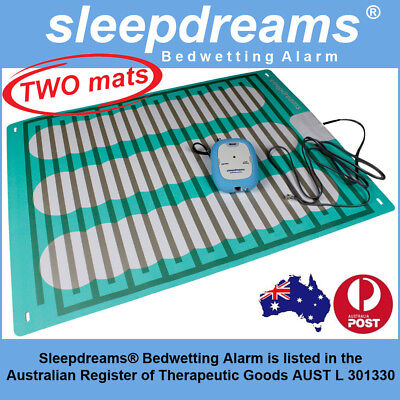 2 MATS BLUE Sleepdreams® Bedwetting Mattress Alarm NON-INVASIVE Bed Wetting