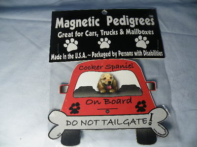 Magnetic Pedigrees Do Not Tailgate Magnets Cocker Spaniel On Board