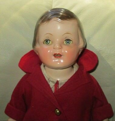 """1930s ARRANBEE 18"""" COMPOSITION DOLL~ORIGINAL COMPLETE OUTFIT~LIKENESS/ PATSY ANN"""