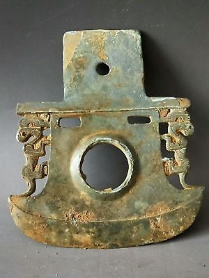 China WarringStates Period Soldiers Long-rang Bronze Weapon Beast Tomahawk 钺
