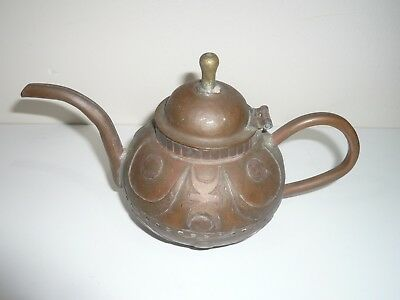 Antique Decorative Heavy Copper Islamic African Coffee Pot 2 Cup Capacity Approx