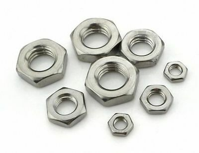 304 Stainless Steel Select Size M6 - M24 Thin Hex Nuts Left Hand Fine Thread