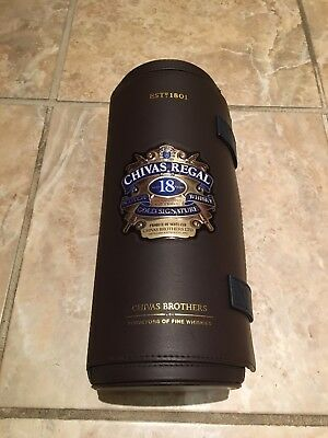 Chivas Regal 18 Year Blended Scotch Whisky Gold Signature Empty Leather Case