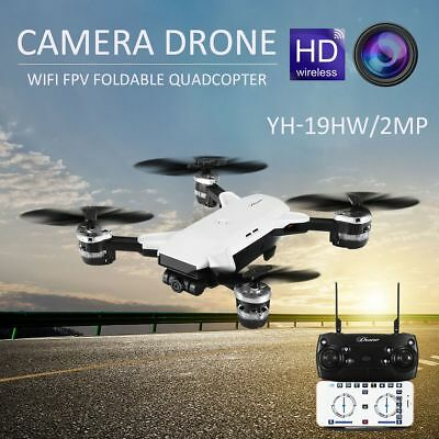 Drone HD Camera FPV 2MP 6 Axis Quadcopter Wifi Live Video Headless Mode Foldable