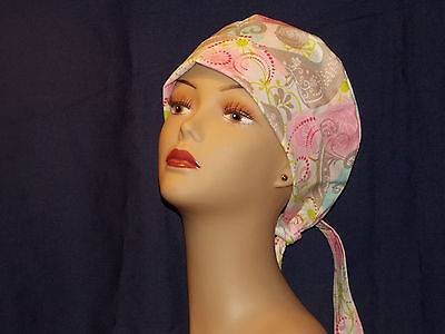 Pixie Surgical Scrub Hat Surgery Cap Women Ladies Medical Handmade