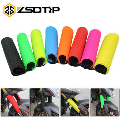 Motorcycle Front Fork Cover Protector Boot Shock Absorber Guard Warp Rubber