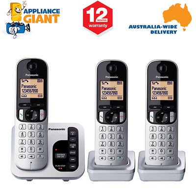 Panasonic KX-TGC223ALS Triple(3) Handset Cordless Home Phone - NEW