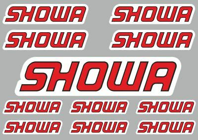 Showa Decals Quality Stickers Vinyl Graphic Set Logo Adhesive Kit 11 Pcs