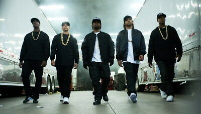 """043 Straight Outta Compton - Ice Cube MC Ren HIPHOP Moive42""""x24"""" Poster"""
