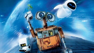 "042 WALL E - Pixar Eve Space Adventure Cartoon Movie 42""x24"" Poster"