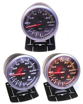 60mm 3 Bar Boost Gauge with Peak Warning Astra Corsa Zafira GSI VXR SRi Turbo