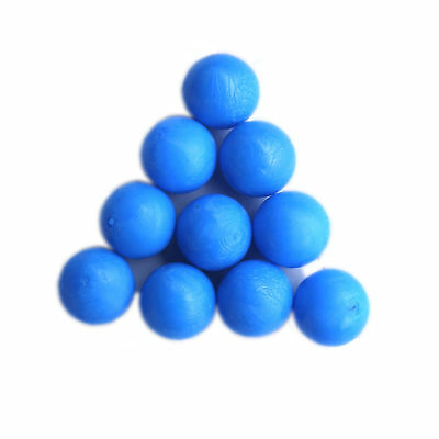 New .68 cal Reusable resilient soft Rubber Training Balls Paintballs  Blue #1