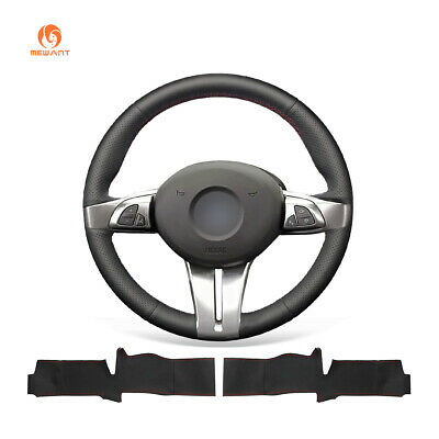 Top Black PU Leather Steering Wheel Cover for BMW Z4 2003 2004 2005 2006