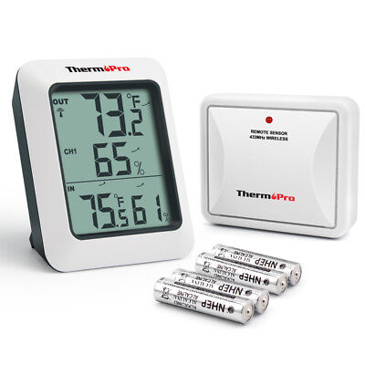 ThermoPro Wireless Digital Indoor Outdoor Hygrometer Thermometer Humidity Meter