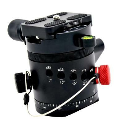 "Black Tripod Ball Head Swivel 1/4"" Mount Quick Release Plate for Camera DSLR"
