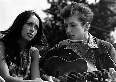 Joan Baez and Bob Dylan Civil Rights March Glossy Music Photo Print