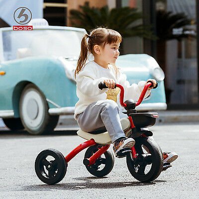 Foldable Kid Child 3 Wheel Bike Trike Tricycle with trailer Ride On Toy AU STOCK