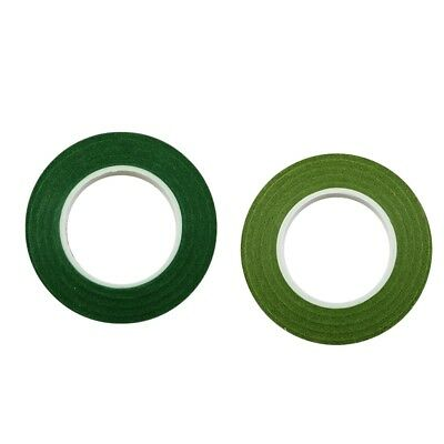 24pcs Wedding Florist Stem Wrap Paper Tape Waterproof 30m Dark & Olive Green