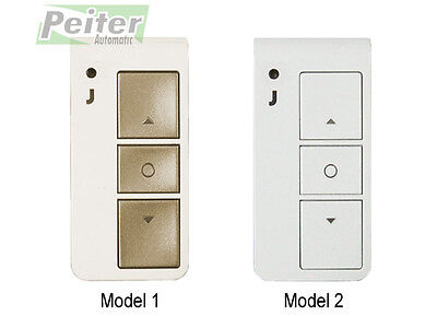 2 channel Jolly Motor TX single J remote control (rolling code, 433 Mhz)