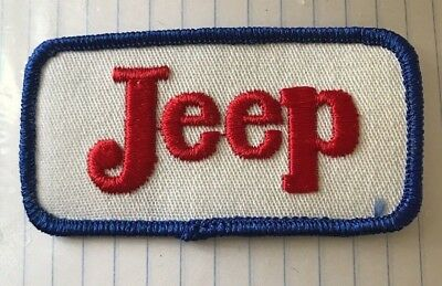 Vintage JEEP patch, Red, White, Blue