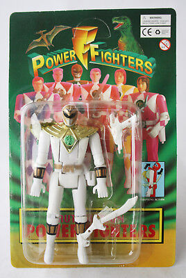 Rare Vintage 90's Power Rangers White Ranger Ko Figure Flip Head New Sealed !