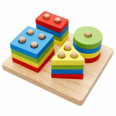 Educational Toys Puzzle cognitive toys Sorting and stacking forms Wood Toy Z1G7