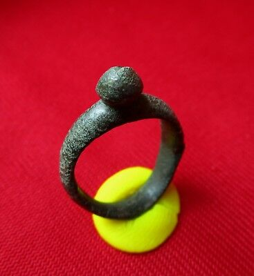 CELTIC FERTILITY AMULET BRONZE RING -  BREAST . circa  300 BC.