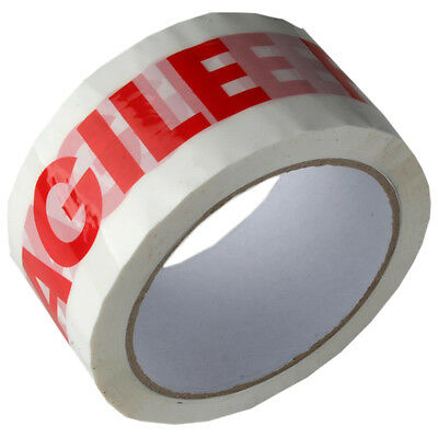 """FRAGILE Tape LOW NOISE Printed Parcel Packing 48mm x 66m 2"""" Rolls *MULTI-LISTING"""