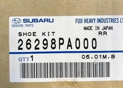 Subaru Rear Brake Shoe Repair Kit 26298Pa000