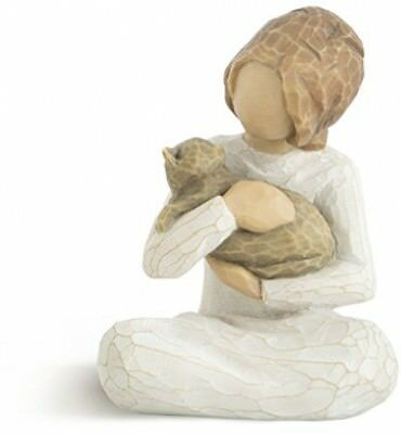Willow Tree Kindness Girl and amp; Cat Figurine Statue Figure Ornament ##