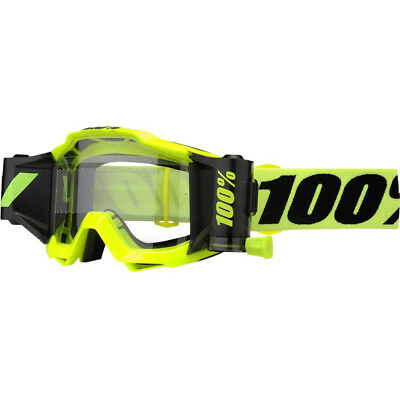 100% Accuri Forecast Mud Goggles - Fluo Yellow Clear Lens 50220-004-02