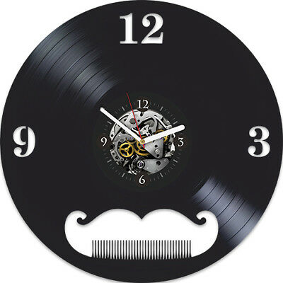 Barbershop Birthday gift idea For Her Barber Shop Vinyl Record Wall Clock Modern