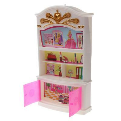 Dolls Plastic Wardrobe Bedroom Furniture for Doll House Accessories