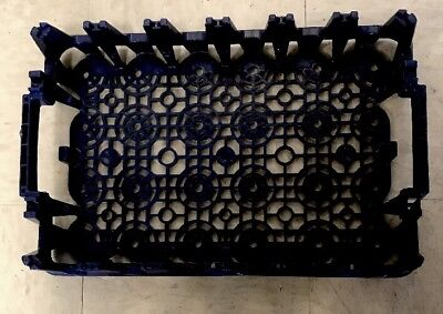 Blue Pepsi Cola Plastic Drink Crate Carrier Caddy 24 20oz Stackable