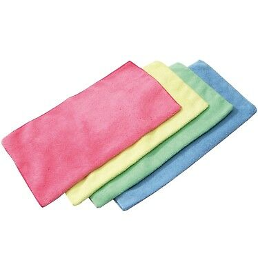 10 MICROFIBER CLOTHS - red - blue - green - yellow - Washable cloths